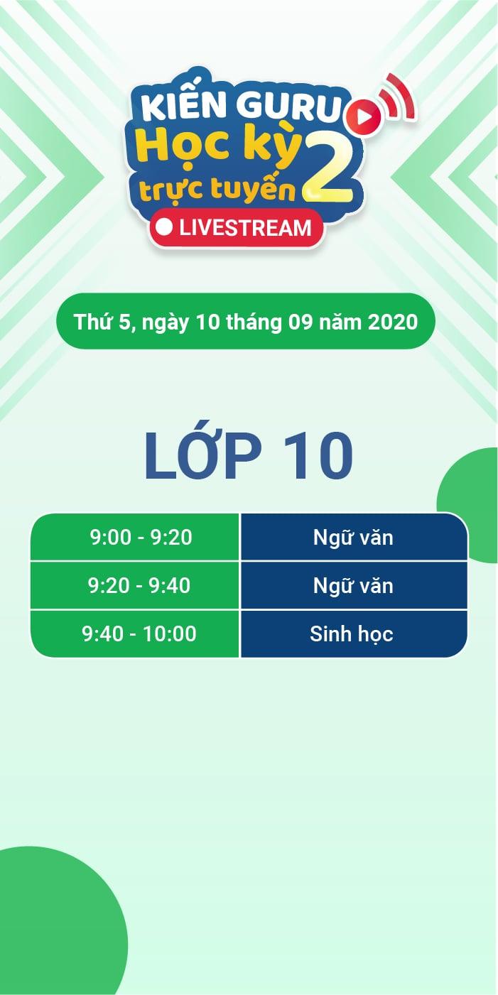 Lớp 10 - thứ 5-100