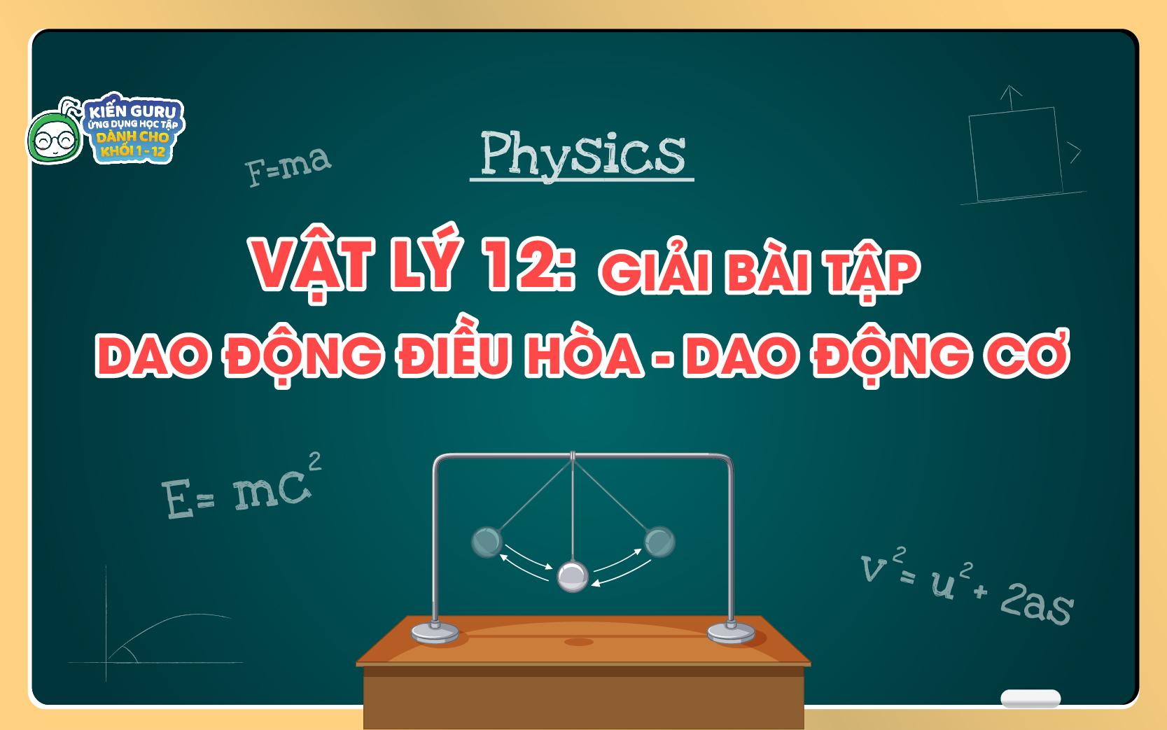 bài tập đồ thị vật lý 12