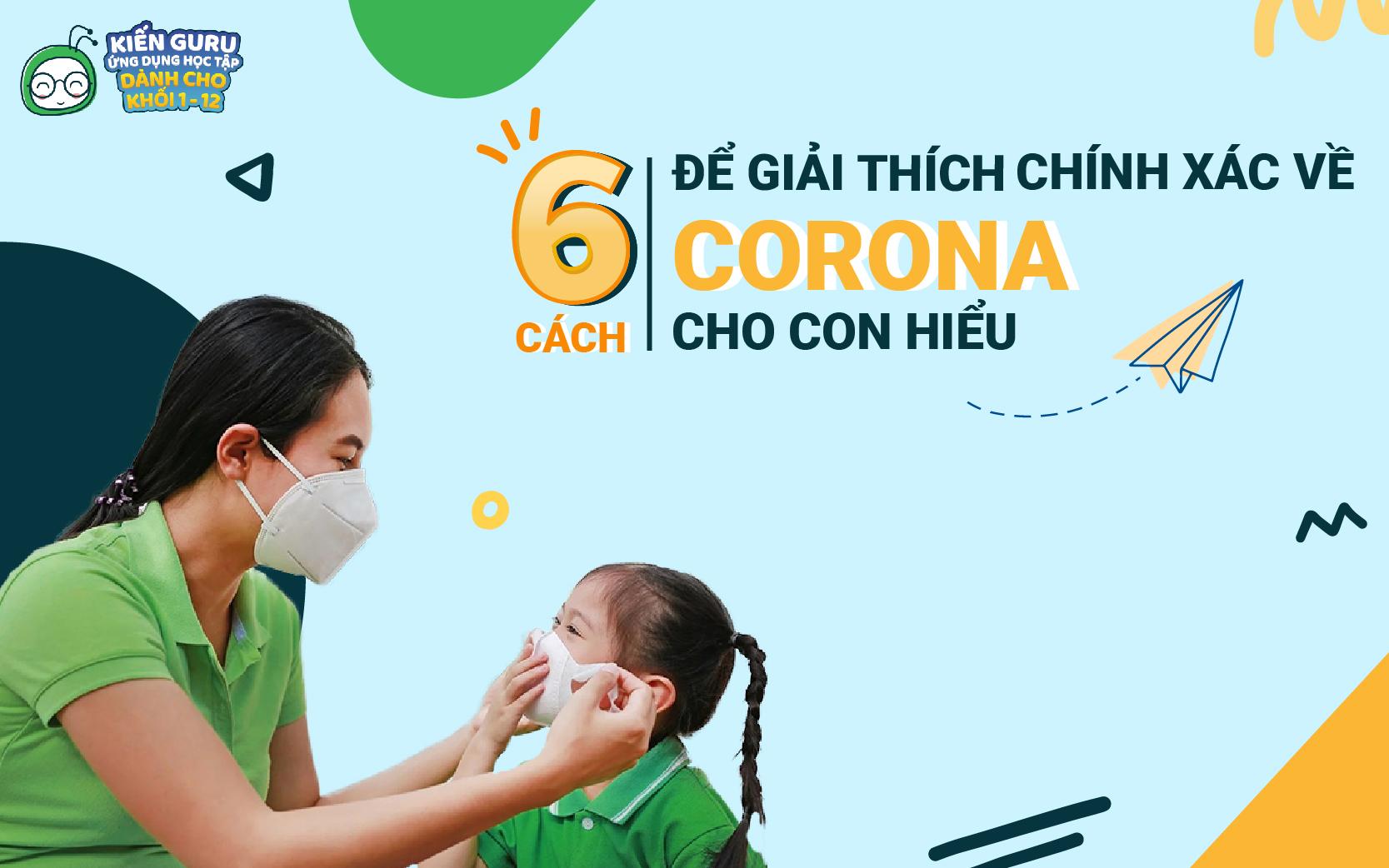 phòng tránh virus corona cho trẻ